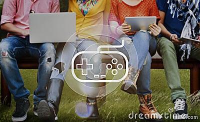 Game Controller Control Leisure Fun Technology Joystick Concept Stock Photo