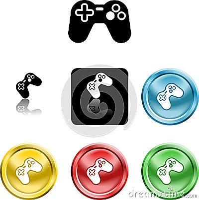 Game controller icon symbol