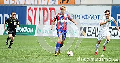 Game CSKA Moscow vs. Terek Grozny Editorial Stock Photo