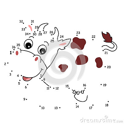 The game of the dots, the cow
