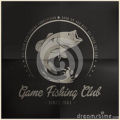 Free Game Fishing Club Badge Royalty Free Stock Photo - 38980885
