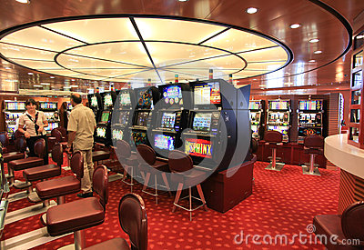 Game hall in Superfast  ship Editorial Stock Image