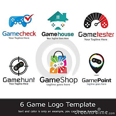 Game Logo Template Design Vector Vector Illustration