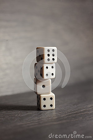 Free Game Object Dice Isolated On A White Background Royalty Free Stock Image - 83504486