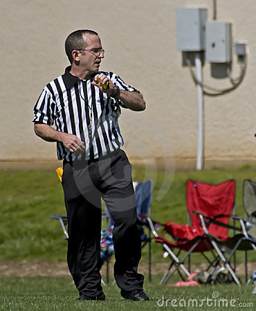 Game official ready for the call