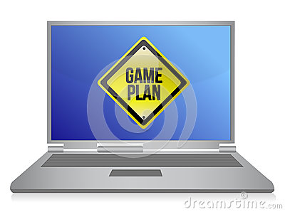 Game plan computer illustration