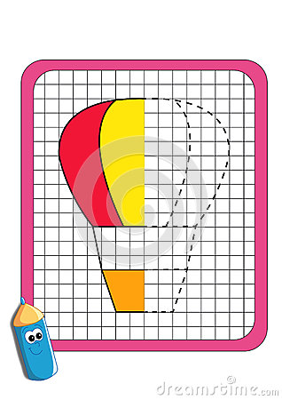 The game of the symmetry, hot-air balloon