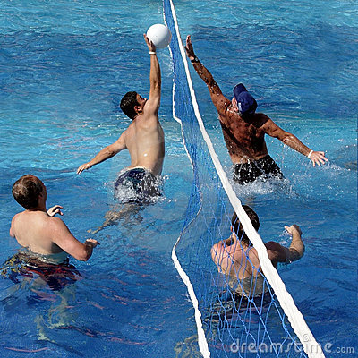 Game of water polo Stock Photo