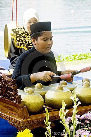 Free Gamelan Player Stock Photo - 10316480