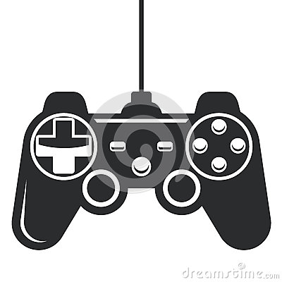 Gamepad icon - game console joystick Vector Illustration