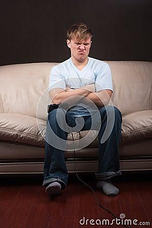 Gamer smutny