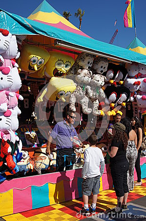 Games at the Fair or Carnival Editorial Image
