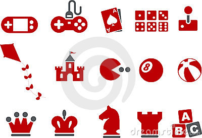 Games Icon Set Editorial Photography