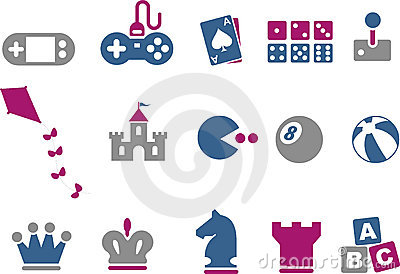 Games Icon Set Editorial Image