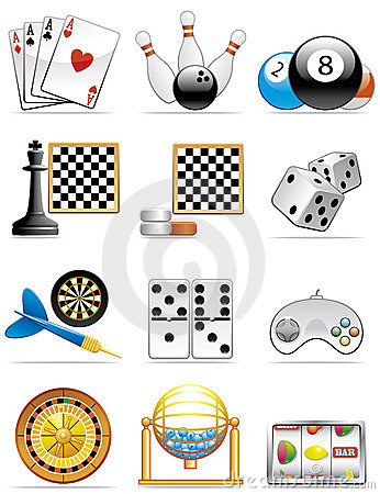 Free Games Icons Stock Photo - 8381420