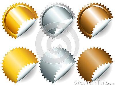 Games medals or labels-set2
