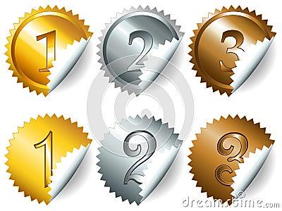 Games medals or labels-set3