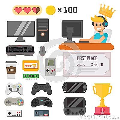 Gaming kiber sport vector set. Vector Illustration