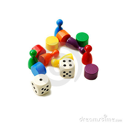 Free Gaming Pieces Royalty Free Stock Images - 8936589