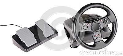 Gaming Steering Wheel Royalty Free Stock Photos - Image: 14966878