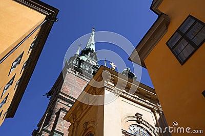 Gamla немецкий stan stockholm церков
