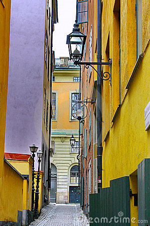 Gamla Stan,The Old Town in Stockholm