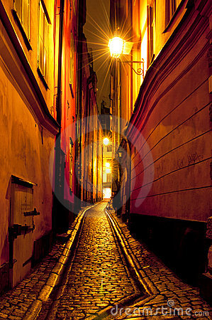 Free Gamla Stan,The Old Town In Stockholm, Sweden Royalty Free Stock Photos - 21762378
