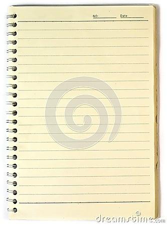 Gammal anteckningsbok