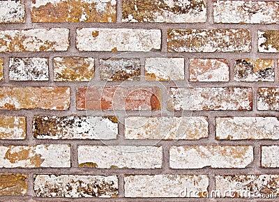 Gammal blek vägg för tegelsten