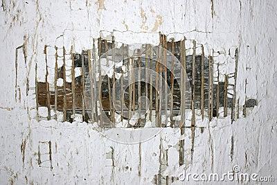 Gammal förstörd texturvägg