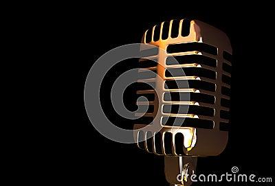 Gammal mikrofon