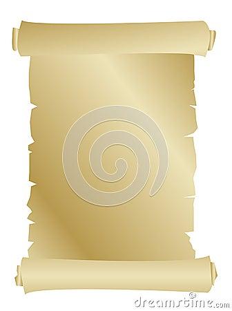 Gammal paper scroll