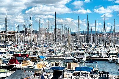 Gammal port av Marseille