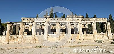 Gammal romersk kolonnbanerpanorama eller panorama-