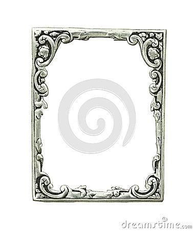 Gammal silver för dekorativ ram
