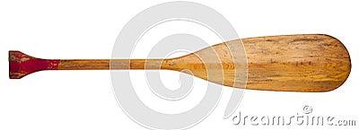 Gammal skovel för kanot