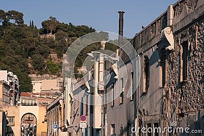 Gammal town av Nice, Frankrike