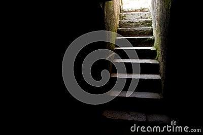 Gammal trappuppgång