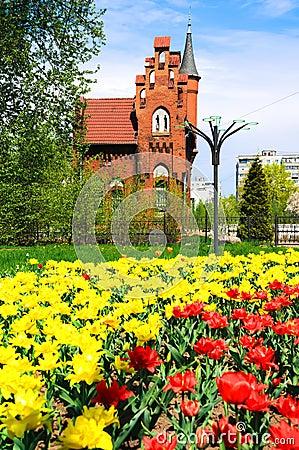 Gammal Tysk Arkitektur I Kaliningrad Arkivfoto - Bild ...