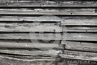 Gammala träplankor