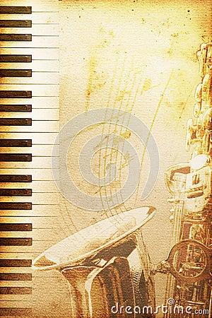 Gammalt papper för jazz