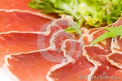 Gammon with salad