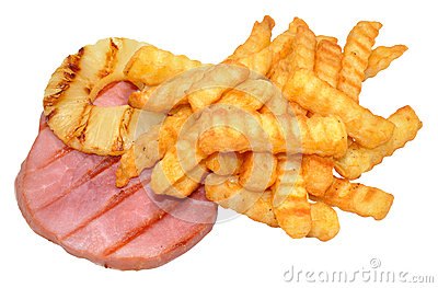 Gammon Steak And Chips