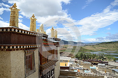 Ganden Sumtseling Monastery in Shangrila, China