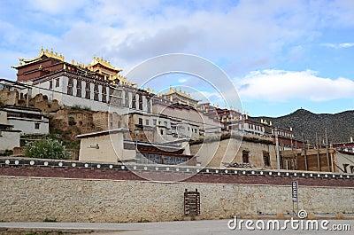 Ganden Sumtseling Monastery in Shangrila, China Editorial Image