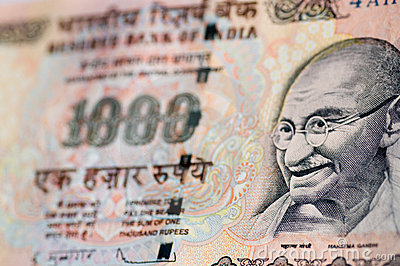 Gandhi banknote from India