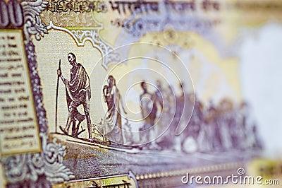 Gandhi March banknote