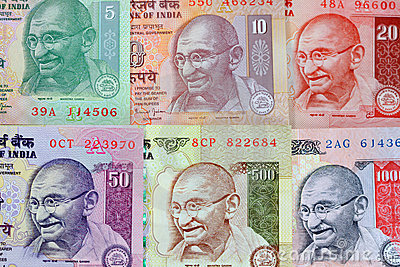 Gandhi on rupee notes