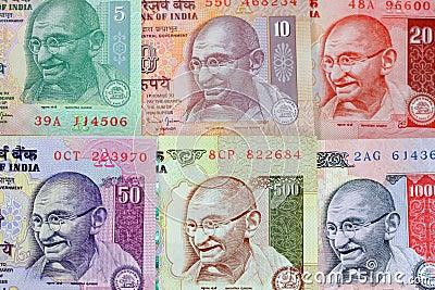 Gandhi on rupee notes
