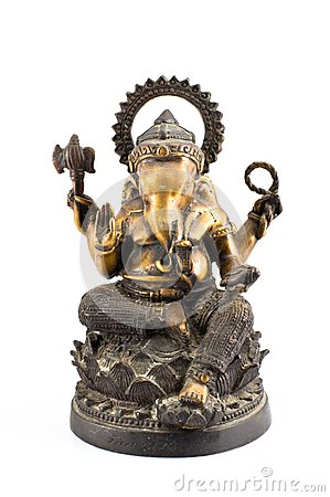 Ganesh brass sit on lotus
